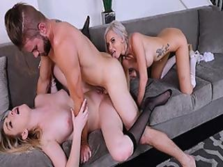 Nathans Huge Cock Ramming Zoe Parkers Sweet Twat On The Couch