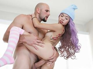 Tiny Asian Teen Vina Sky Destroyed By A Giant Dick
