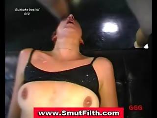 Bukkake Fetish Euro Slut Cum Facials