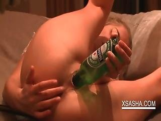 Amateur, Beer, Blonde, Bottle, Cunt, Masturbation, Naughty, Petite, Pink, Pussy, Russian, Teen