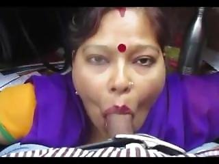 Aunt, Blowjob, Deepthroat, Indian, Reality, Smoking