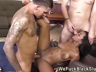 Ebony Babe Cum Covered