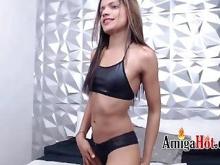 Sexy Latina And Black Micro Bikini