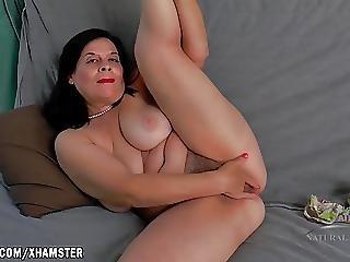 Nina Fingers Her Big Hairy Pussy