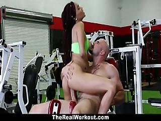 Teamskeet - Fit Ebony Babe Fucked At Gym