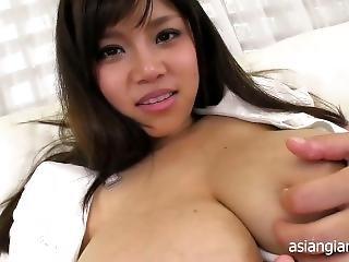 amateur, asiático, teta grande, teta, fetiche, leche