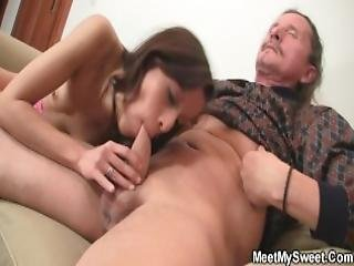 His Gf Rides Old Step Dad S Cock