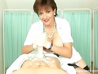 Bed Bath Latex Glove Handjob