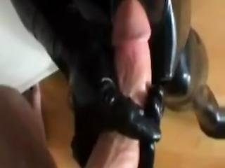 Amateur Latex Footjob And Blowjob