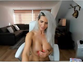 Mature Cam Model Arousing Bigtits Stripping Nude Hitachi Masturbation Cum