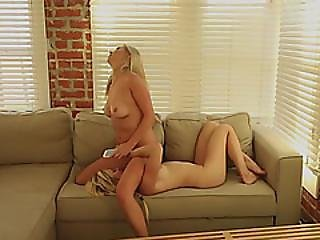 Blonde Mandy Sitting On Tara Face And Licked