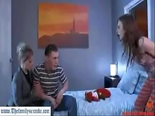 Hot Milf Mother Helping Creepy Brother Fuck His Sister