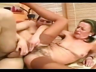Granny Pornstar Sandora In Kissing Grandma.