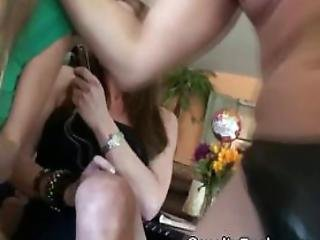 Drunk Girls Teasing One Guys Dick At Reverse Gangbang