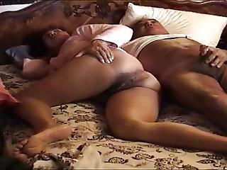 Asian Wife Handjob And He Cum In Hand