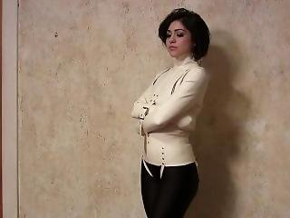 Johannie In Latex Straitjacket And Ballgag