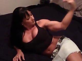 Muscle Flexing Teen