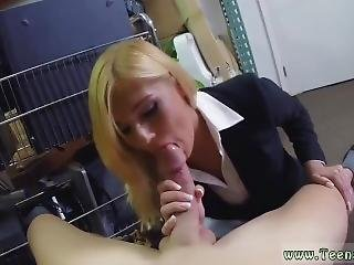 Blonde Teen Fishnet Hot Milf Banged At The Pawnshop