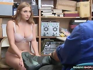 Busty Skylar Snow Gets Caught Again And Fucked By Horny Officers Huge Cock