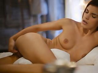 Cute Brunette Romantic Masturbation And Pussy Play