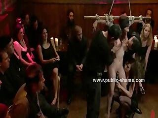 Babe With Big Tits Powerless In Front Of Pervert Public With Her Hands And Feet Tied In Bondage Sex