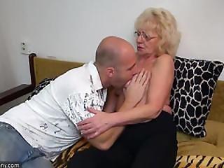 Oldnanny Old And Young Strapon Pumping And Masturbating