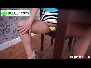 Upskirtjerk Hot Showing Under Her Skirt
