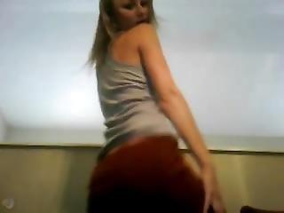 Blonde Dancing To Body Rockin Beats