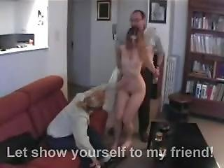 Dad And Friend Spanking Daughter.