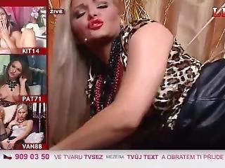 Leo Tv - Czech Live Night Show, Lola Masturbation With Vibrator