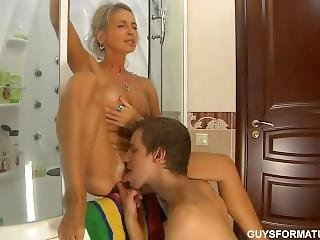 Russian Mother Seduces A Boy.