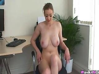 Wank It Now - Sapphire At Work