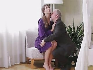 Blowjob, Brunette, Cumshot, Fucking, Old, Older Man, Teen, Young