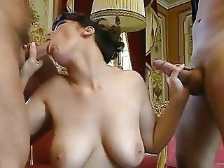 Huge Tits Milf And 2cocks