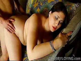 Beautiful Big Tits Belly And Booty Brunette Bbw Is Such A Hot Fuck