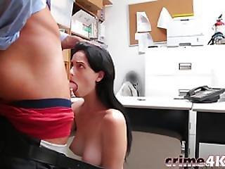Dark-haired Babe Alex Harper Gags On Dick Before Having Sex
