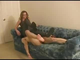 Brutal Facesitting And Ballbusting By Mistress