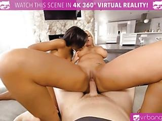 Vrbangers.com Thanksgiving Dinner Becomes A Wild Threesome With A Busty Milf And Teen Ebony