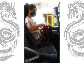 (risky Bus) Public Blowjob N Flashing Tits From A Stranger!!!!