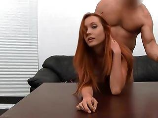 Cute redhead Brielle casting sex and anal