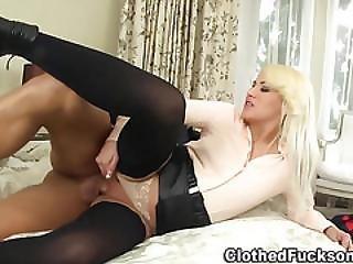 Blonde, Blowjob, Classy, Cumshot, European, Glamour, Hardcore, Heels, Satin, Stocking, Threesome, Whore