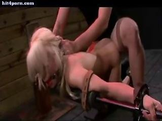 Chained Blonde Getting Screwed Hard