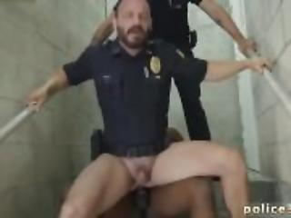 anal, black, couple, sperme, nique, gay, interracial, police, sexe, blanc