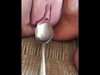 Thor Scoops My Hot Wet Cunt With His Yogart Spoon.. Ya Daddy So Dirty