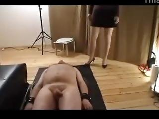 Group Of Femdom Mistress Used Male Slave As Toilet