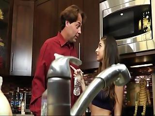 Cute Daughter Seduced Daddy