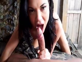 Blowjob, British, Costume, Deepthroat, Dick, Facial, Lick, Military, Pov, Slim