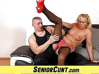 Old Pussy Spreading With Hot Euro Mom Koko