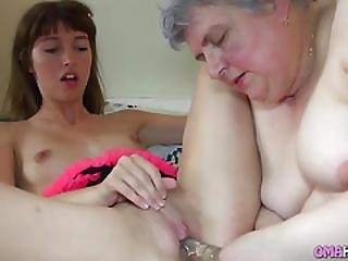 Ugly Grandmother And A Girl