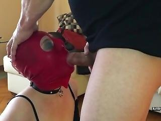 My Masked Slave Pat Fucked In Her Mouth